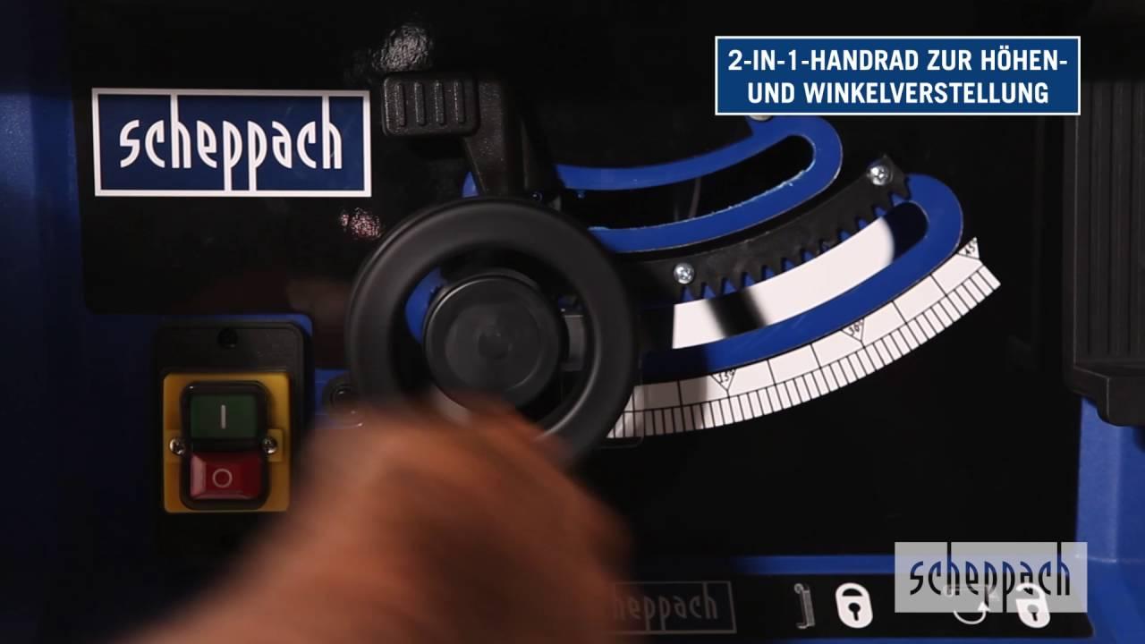 scheppach | tischkreissäge hs105 | de - youtube