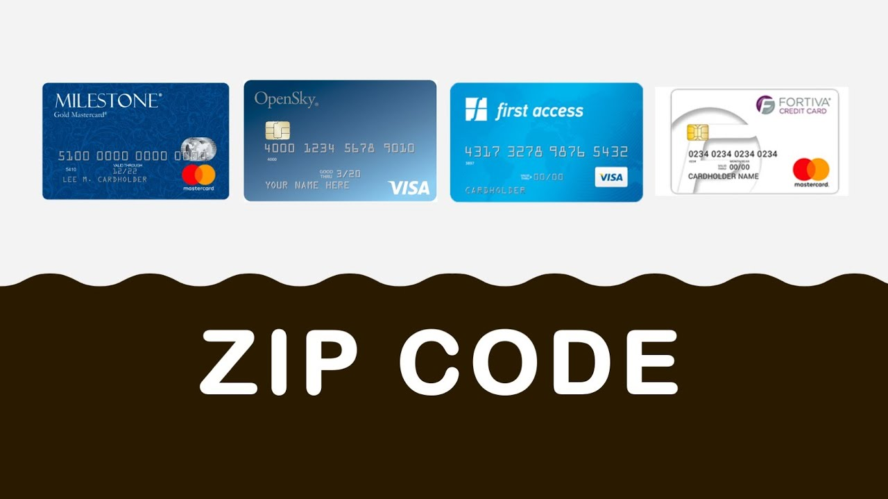 What Is Credit Card Zip Code Youtube