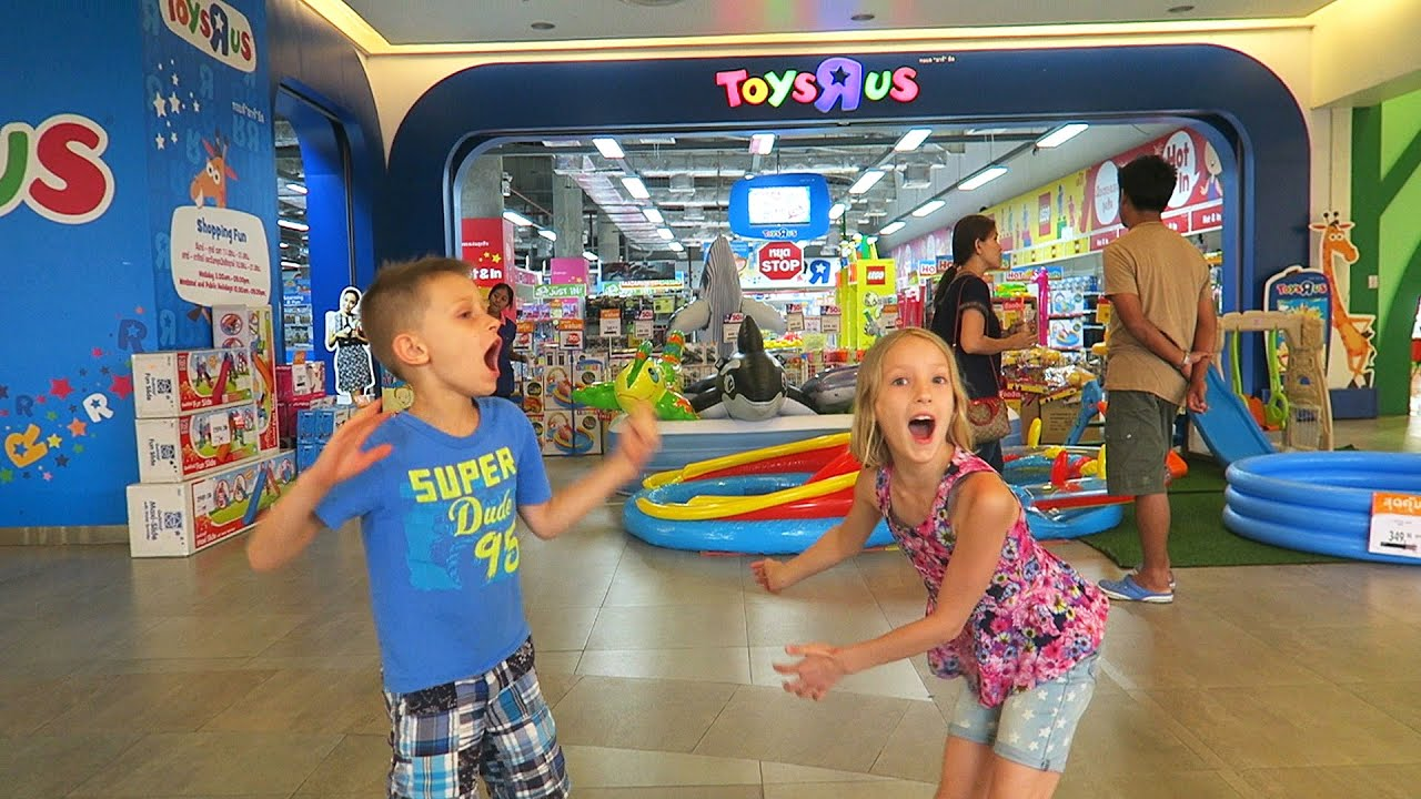 Fun play place for kids playground with toys and games visit to toy store youtube - Maisonnette toys r us ...