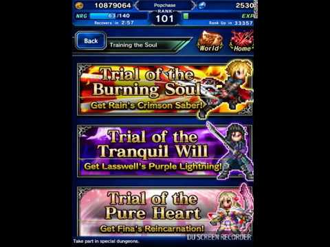 (FFBE) Training the Soul (All missions cleared) kill Boss in 3 turns or less!
