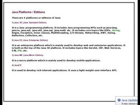 Java Tutorial Video 03- Java Platforms / Editions- Introduction to Java Programming #JavaTutorial thumbnail