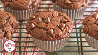 How YOU Can Make BIG Bakery-Style Double Chocolate Chip Muffins