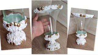 DIY/ Home decor/  Vase Decorating Idea with air dry clay