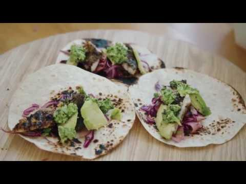 Mexican Fish Tacos with Pumpkin and Jalapeño Sauce || Tess Ward