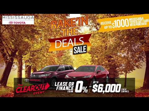 Rake'in the Deals Sale at Mississauga Toyota