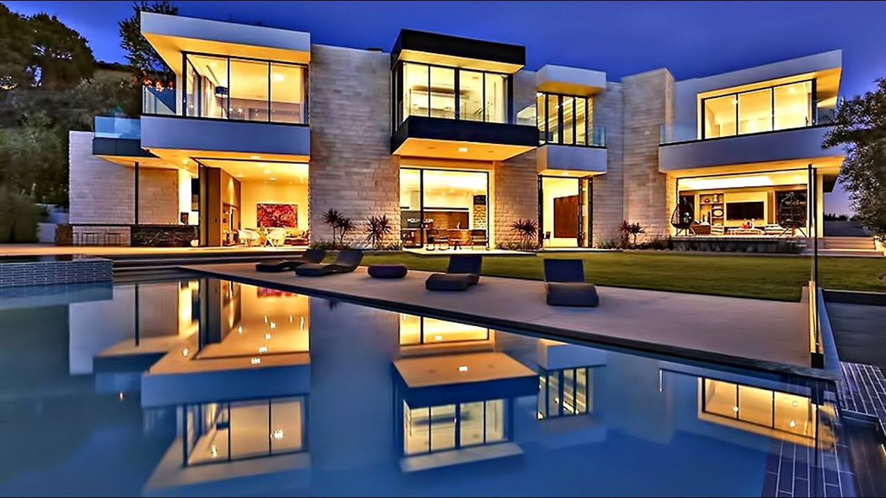 Stunning modern contemporary sunset strip luxury residence for Contemporary homes images