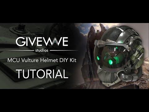 MCU Vulture Helmet TUTORIAL ( Spiderman Homecoming )