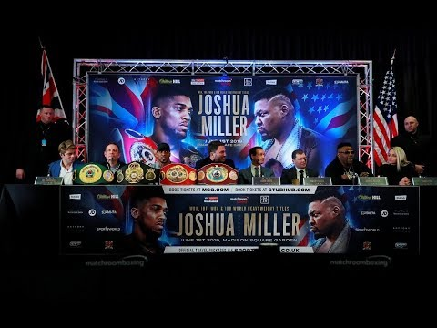 Anthony Joshua vs Jarrell Miller | London launch press conference