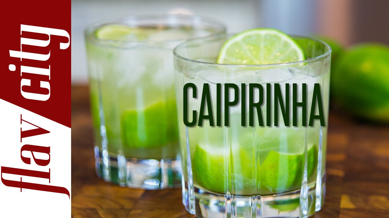 Caipirinha cocktail  Caipirinha - Brazilian Cocktail Recipe - YouTube