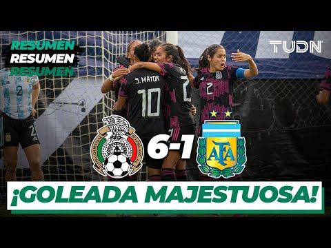 Resumen y goles   México 6-1 Argentina   Amistoso femenil Internacional   TUDN