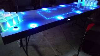 Interactive Led Beer Pong Table 2.0 - Quick Test