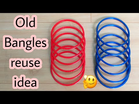 Use Old Bangle and Kangan | Best Out Of Waste | Craft With Waste Bangle | DIY Bangle Idea