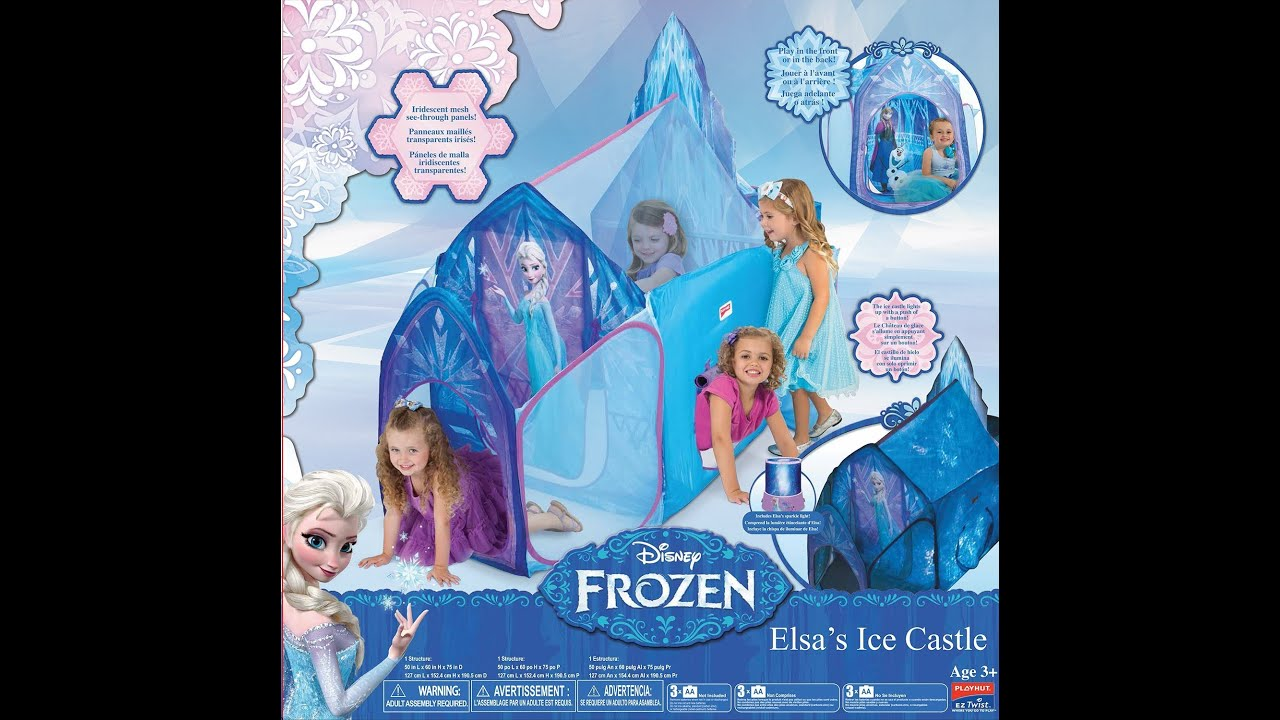 sc 1 st  YouTube & Review: Playhut Disneyu0027s Frozen - Elsau0027s Ice Castle - YouTube