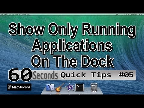 How To Show Only Open Apps On The Dock - QT#5