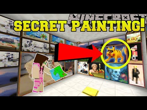 Minecraft: SECRET PAINTING!!! - The Puzzle Button - Custom Map thumbnail