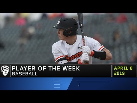 Oregon State Beavers - Beavers move up to #4. Adley Rutschman Pac-12 Player of the Week