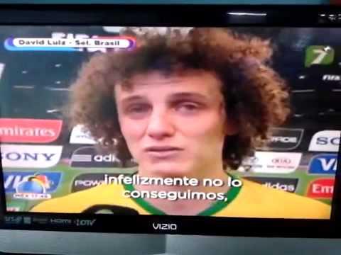 Julio Cesar y David Luiz llorando entrevista Subtitulos Español Brasil Alemania 1-7
