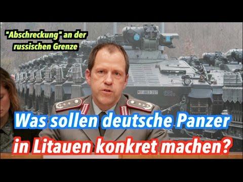 Unsinnige Frage: Welche Aufgaben haben deutsche Kampfpanzer in Litauen?