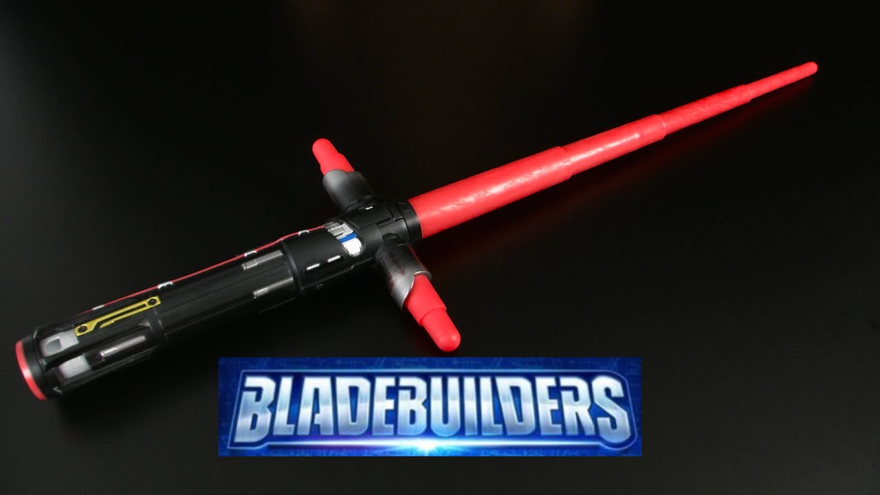 Star Wars Bladebuilders Electronic Kylo Ren Lightsaber from Hasbro ... for How To Make A Lightsaber For Kids  55jwn