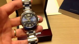 Longines Conquest blue dial 39 mm
