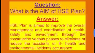 WHAT IS HSE PLAN? Health Safety Environment Plan in Urdu / Hindi / English.