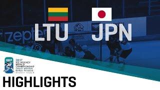 Lithuania - Japan | Highlights | 2017 IIHF Ice Hockey World Championship Division I Group B