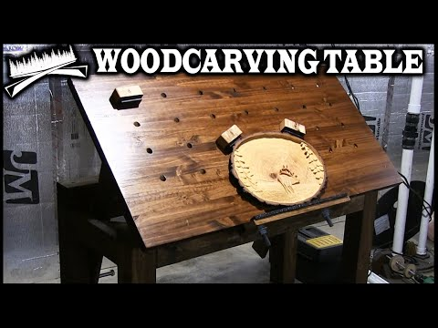 "SIMPLE & ADJUSTABLE CARVING TABLE | D.I.Y. instructional ""Wood Carving Table"""