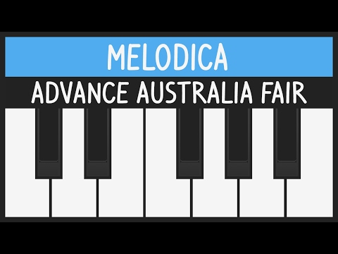 Advance Australia Fair  National Anthem  Melodica Tutorial  YOUCANPLAYITCOM