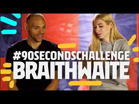 FIRST THING YOU DID TODAY?   MARTIN BRAITHWAITE #90secondschallenge