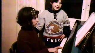 """My twin sister Hasmik and I performing """"It's All Right to Cry"""" song, Angela Martirosyan, 1996"""
