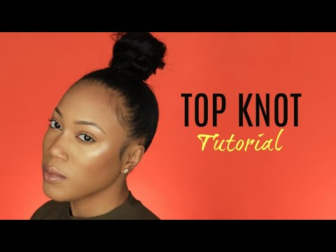 HIGHLY REQUESTED Top Knot Bun Tutorial thumbnail