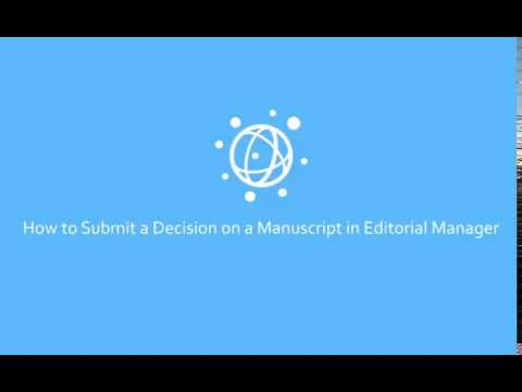 How To Submit an Editorial Decision for the PLOS Community Journals