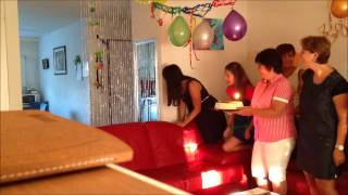 Surprise birthday for my mother