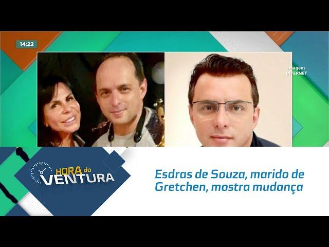 Esdras de Souza, marido de Gretchen, mostra mudança no visual