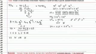 Системы счисления. Почему так переводят из одной системы счисления в другую.
