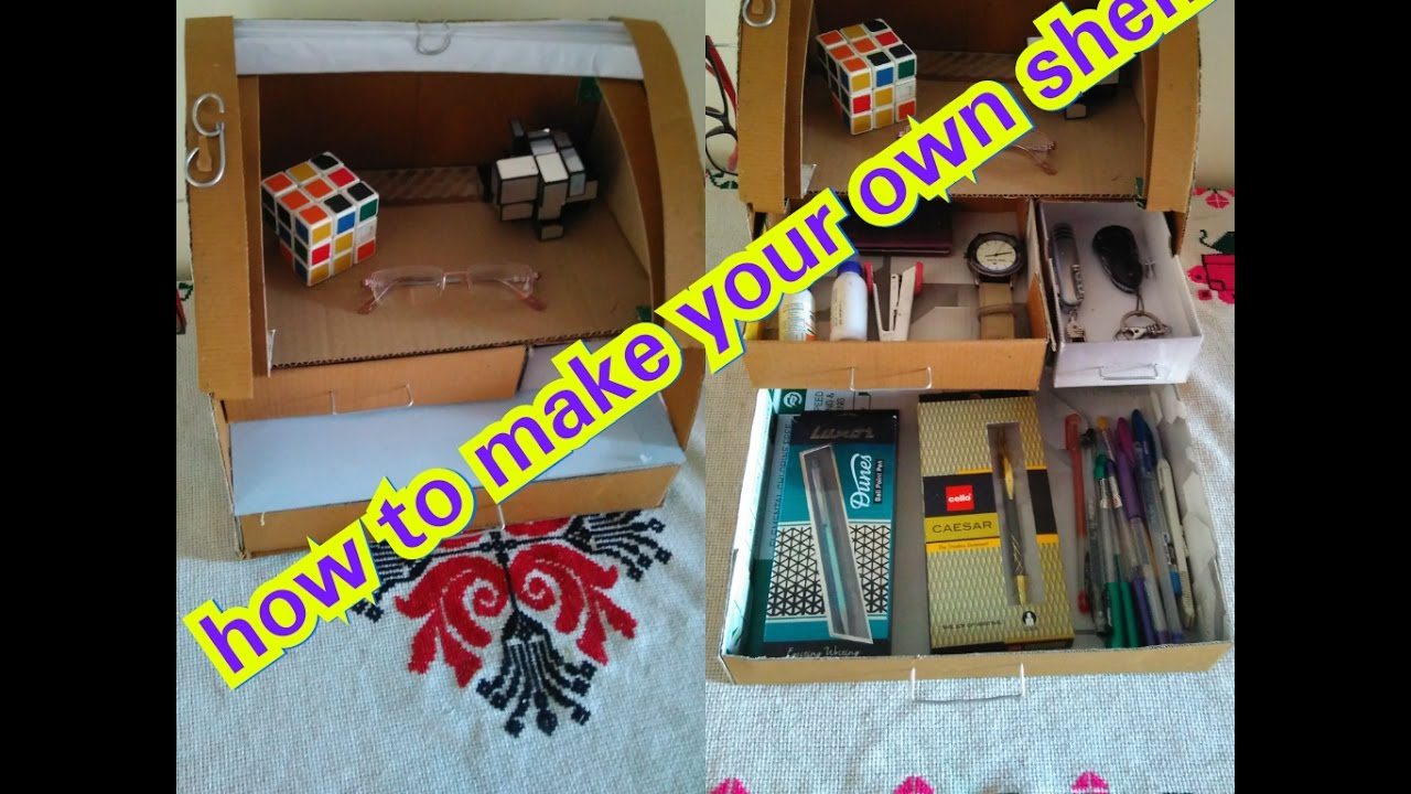How u can make your own shelf at home idea for making for How to make cool stuff at home