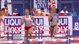 Чемпионат Европы по легкой атлетике-2016. 400 м с барьерами женщины, 1/2 финала Виктория Ткачук