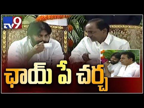 Pawan Kalyan, KTR and KCR at Governor Narasimhan's At Home party - TV9