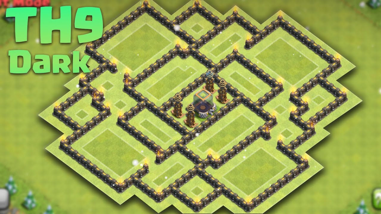 Base Farming TH 9 Anti Dark Elixir DE Terbaru