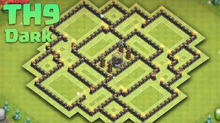 Clash of Clans - Town Hall 9 (Th9) Dark Elixir Saving/Farming Base 2016 + Replays