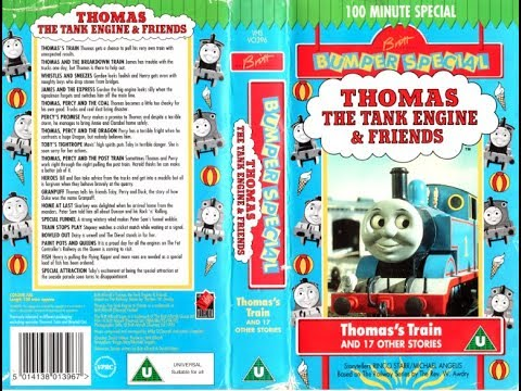 Thomas The Tank Engine: Thomas' Train And 17 Other Stories (1995 UK VHS)
