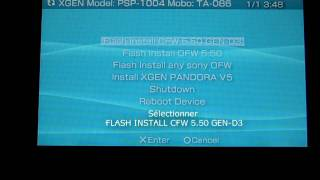 Part One PSP 1000/1004 FAT Downgrade 6.20 to 5.50 GEN-D3 without Pandora only OFW & homebrews