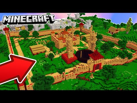 HOW TO BUILD A MINECRAFT CASTLE IN ONE SECOND!!