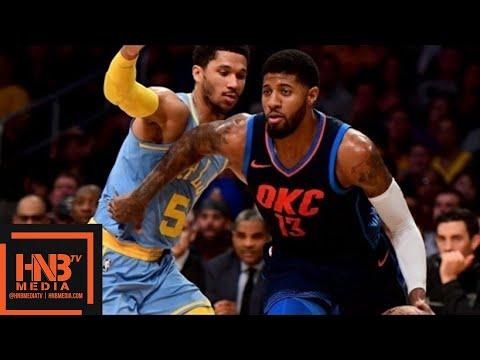 Oklahoma City Thunder vs Los Angeles Lakers Full Game Highlights / Jan 3 / 2017-18 NBA Season