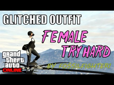 gta 5 online glitched outfit female tryhard showcase by