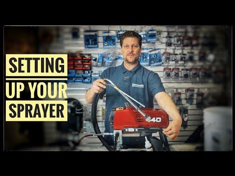 Paint Sprayer Tips   How To Set Up An Airless Sprayer   Titan 440
