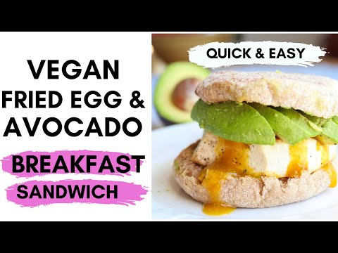 VEGAN FRIED EGG SANDWICH / Savory vegan brunch recipe