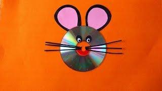 BRICOLAJE - Gato de la cara mediante el uso de Residuos de CD || Innovadores Artsncrafts