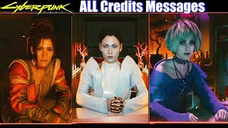 Cyberpunk 2077 - ALL Post Credits Endings (Character Messages)