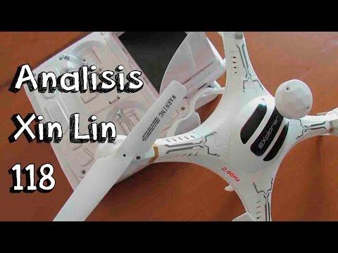 ANALISIS DRONE FPV XIN LIN X118 EN ESPAÑOL: Drone con cámara FPV barato calidad precio